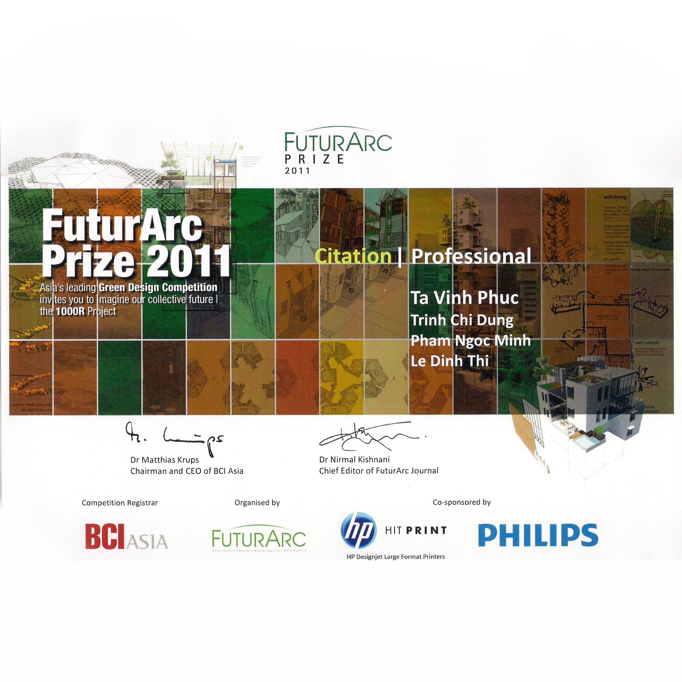 Giải thưởng FuturARC 2011